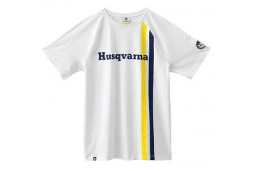 T-SHIRT HUSQVARNA STRIPES LOGO TEE