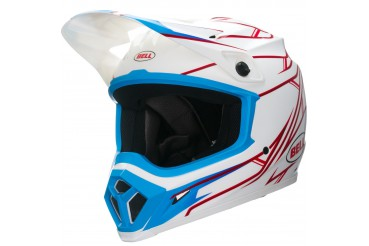 BELL MX9 PINNED WHITE