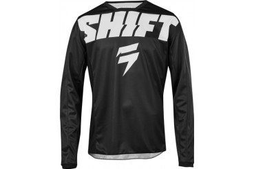 MAILLOT SHIFT WHITE LABEL YORK NOIR ET BLANC