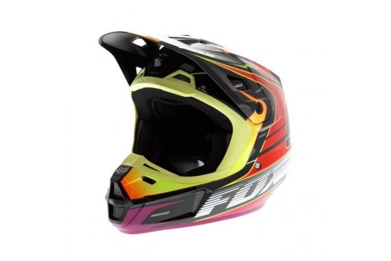CASQUE V2 RACE ROUGE / JAUNE