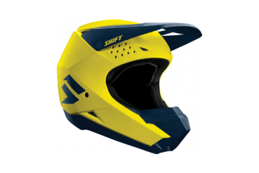 Casque WHIT3 HELMET Yellow/Navy | Shift