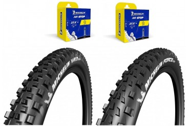 Lot Michelin - Wild AM 27.5X2.35 + Force AM 27.5X2.35 + 2 CAA 27,5X1.9-2.6