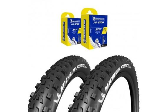 Lot Michelin - 2x Force AM 27.5X2.35 + 2x CAA 27,5X1.9-2.6