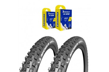 Lot Michelin - 2x Wild AM 27.5X2.6 + 2x CAA 27,5X2.4-3.0