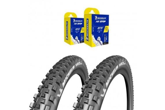 Lot Michelin - 2x Wild AM 27.5X2.6 + 2x CAA 27,5X2.4-3.0