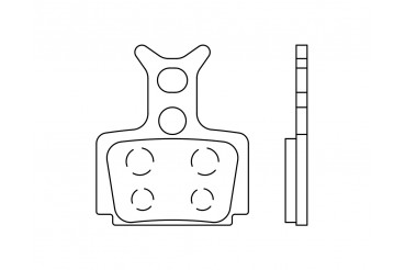 Plaquette semi métallique Formula Cura | SB3